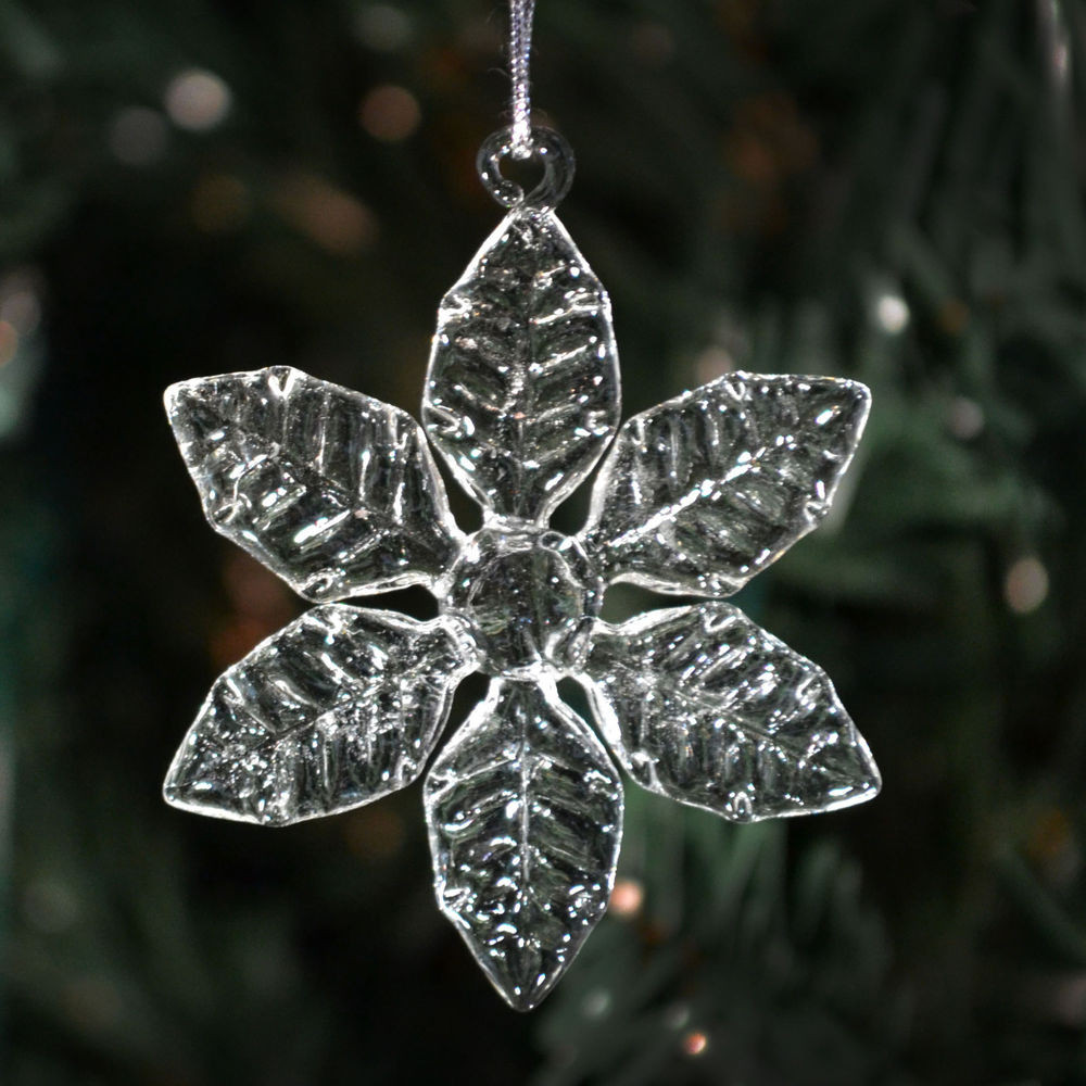 Lovely Clear Glass Snowflakes 6 Different Styles Christmas Glass Christmas Tree Decorations Of Great 42 Ideas Glass Christmas Tree Decorations