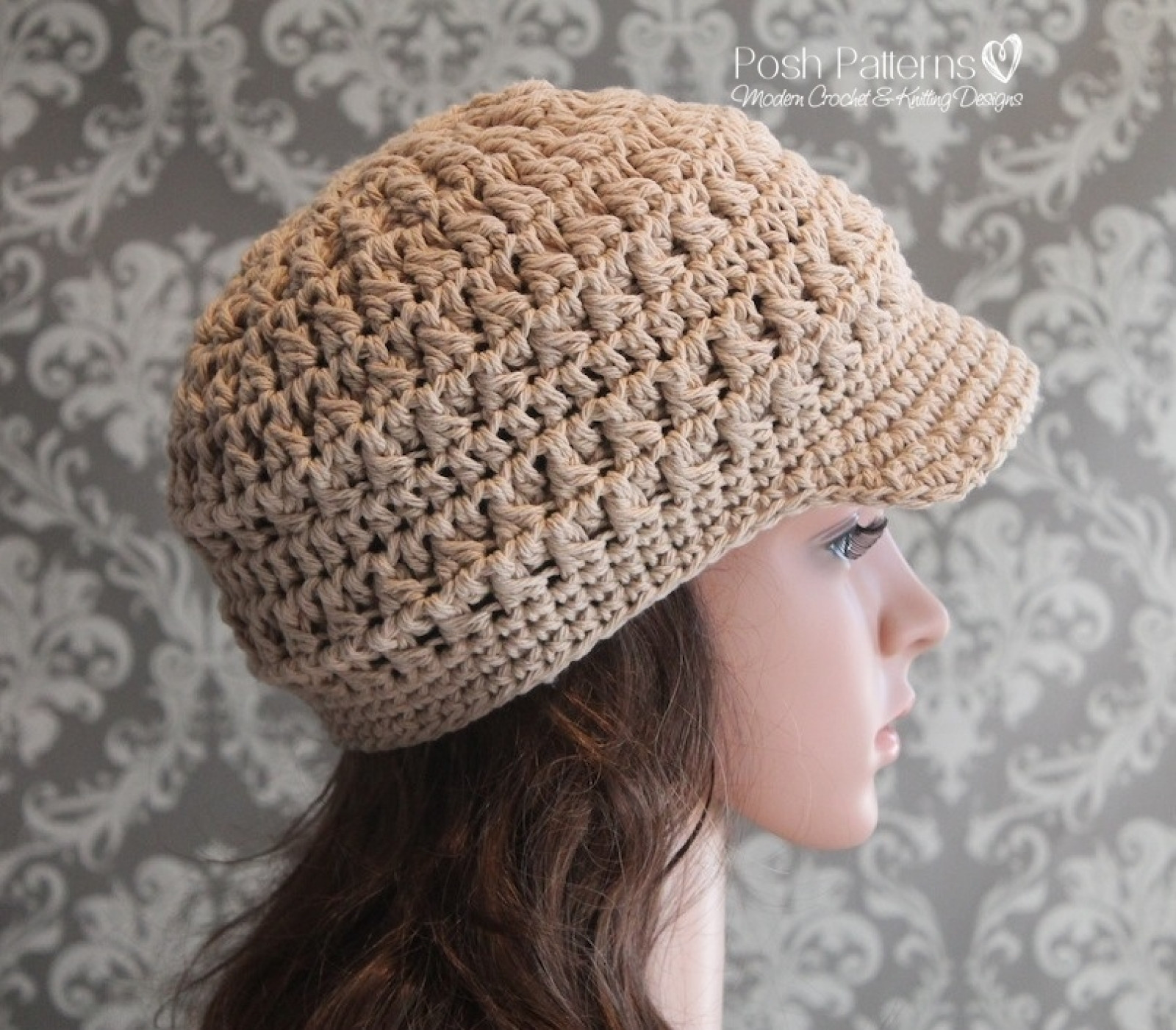 Lovely Cluster Crochet Newsboy Hat Pattern Free Crochet Hat Patterns for Adults Of Incredible 50 Pics Free Crochet Hat Patterns for Adults