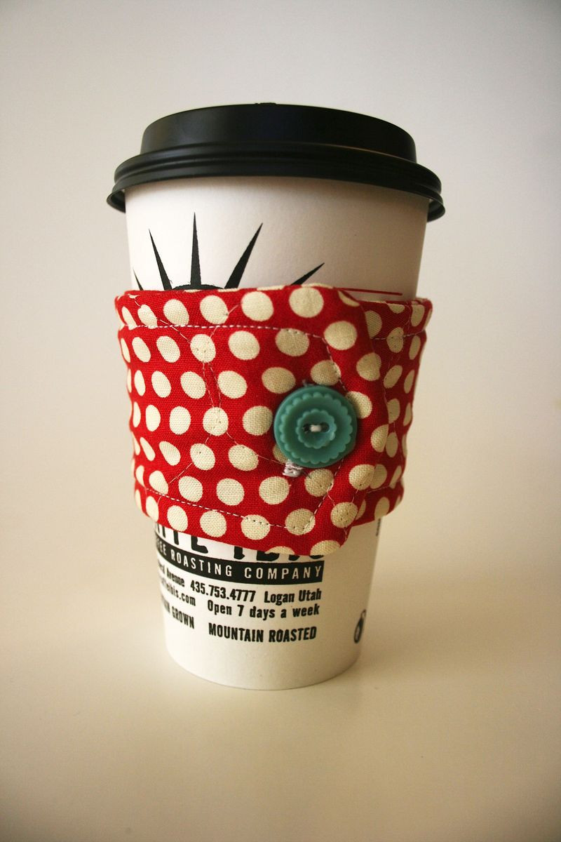 Coffee Cup Cozies Free Pattern Cosmo Cricket
