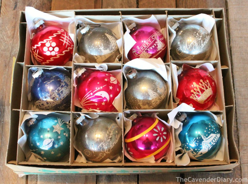 collecting shiny brite ornaments