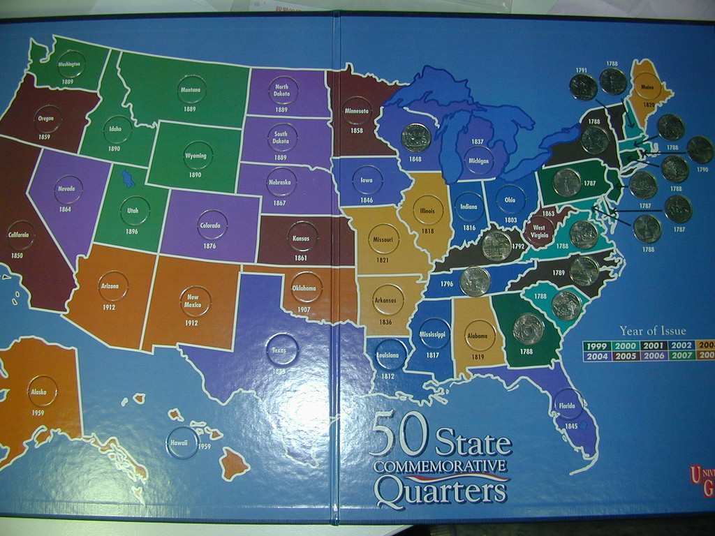Lovely Collector's Two Cents – Curious Monkey 247 Us State Quarter Collection Of Charming 49 Ideas Us State Quarter Collection