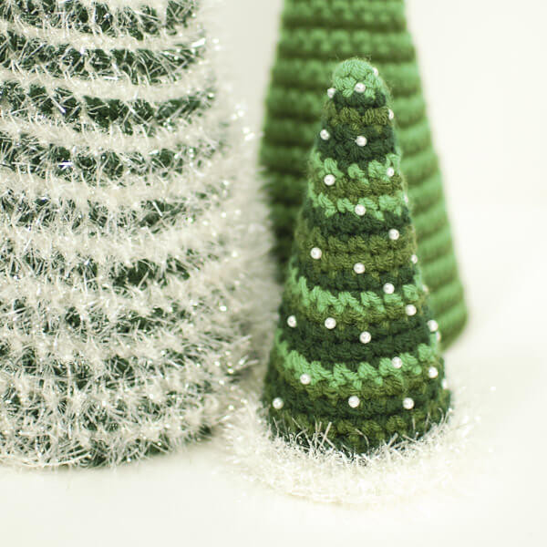 Lovely Cone Christmas Tree Crochet Patterns Petals to Picots Crochet Christmas Trees Of Marvelous 46 Ideas Crochet Christmas Trees