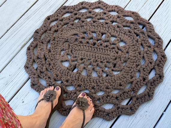 Lovely Cotton Oval Lace Thick Doily Kitchen or Bath Rug Crocheted In Crochet Bathroom Rug Of Great 43 Images Crochet Bathroom Rug