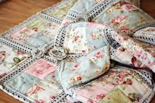 Lovely Cotton Yarn Crochet and Fabric Quilt – Pretty Shabby Crochet and Fabric Quilt Of Top 45 Models Crochet and Fabric Quilt