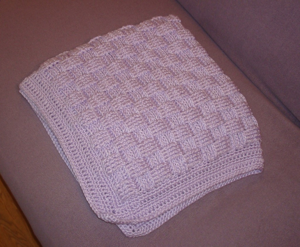Lovely Cousin Crystal S Crocheted Basket Weave Baby Blanket Basket Weave Blanket Of Amazing 45 Models Basket Weave Blanket