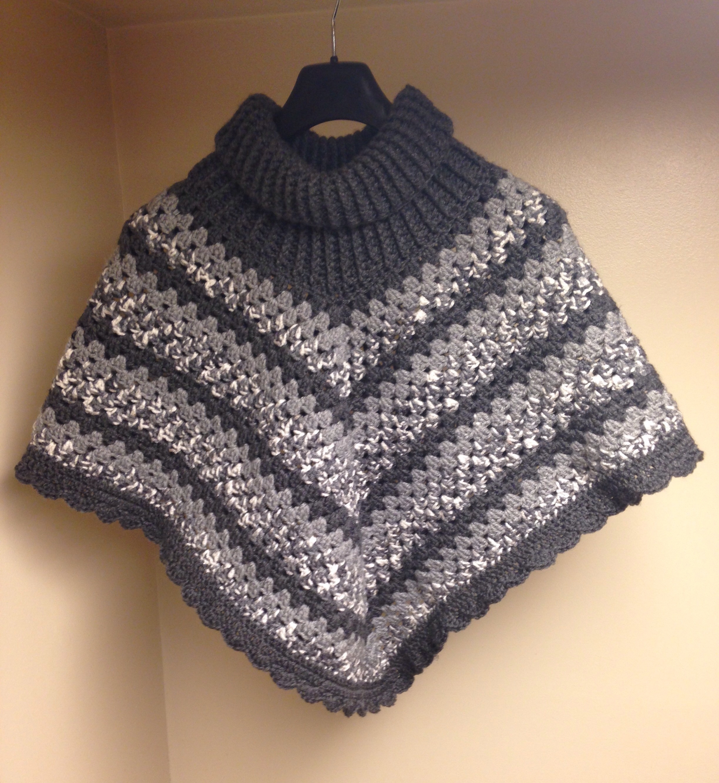 Lovely Cowl Neck Poncho – Hey Can You Crochet Me A… Crochet Cowl Neck Poncho Of Beautiful 44 Pics Crochet Cowl Neck Poncho