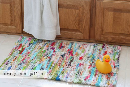 Lovely Crazy Mom Quilts How to Crochet A Rag Rug with Fabric Yarn Crochet Rug Yarn Of Fresh 45 Images Crochet Rug Yarn