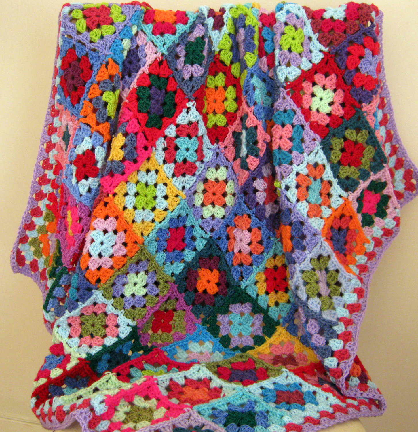 Lovely Crochet Afghan Blanket Rainbow Carousel Granny Squares Bright Afghan Squares Of Perfect 50 Ideas Afghan Squares