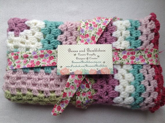Lovely Crochet Baby Blanket Handmade Baby Girl by Beausandbumblebees Crochet Baby Gift Of Innovative 49 Models Crochet Baby Gift