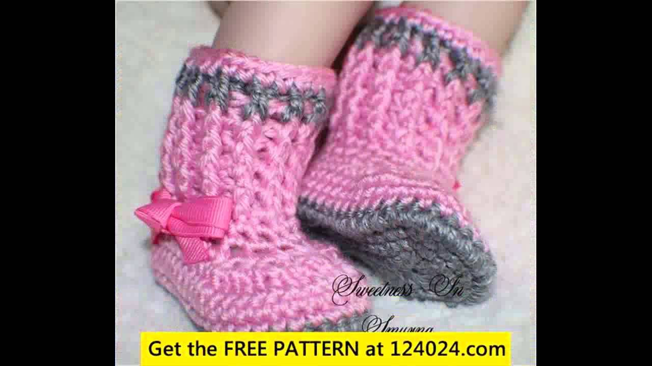 Lovely Crochet Baby Booties Free Pattern Youtube Free Crochet Patterns Of Unique 42 Models Youtube Free Crochet Patterns