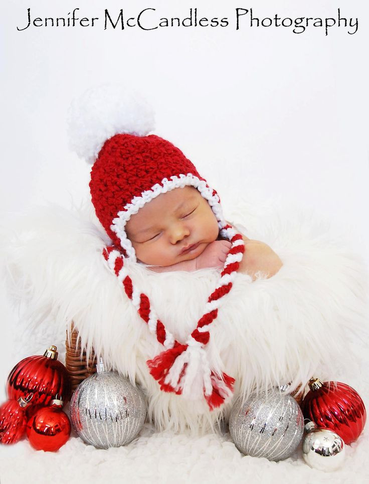 Lovely Crochet Baby Boy Girl Christmas Candy Cane Pom Pom Earflap Baby Christmas Hat Of Brilliant 46 Photos Baby Christmas Hat