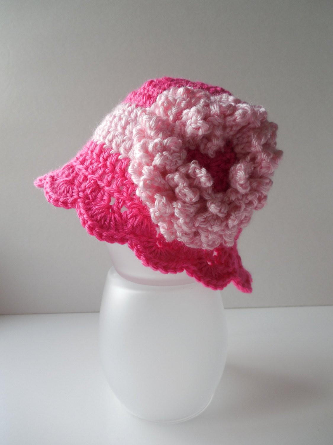 Lovely Crochet Baby Flower Hat Pink Little Lady by Shelleyscrochetole Pink Crochet Hat Of Great 43 Models Pink Crochet Hat