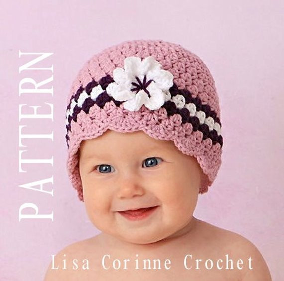 Lovely Crochet Baby Hat with Flower Baby Girl Crochet Pattern Crochet Flower for Baby Hat Of Beautiful 42 Ideas Crochet Flower for Baby Hat