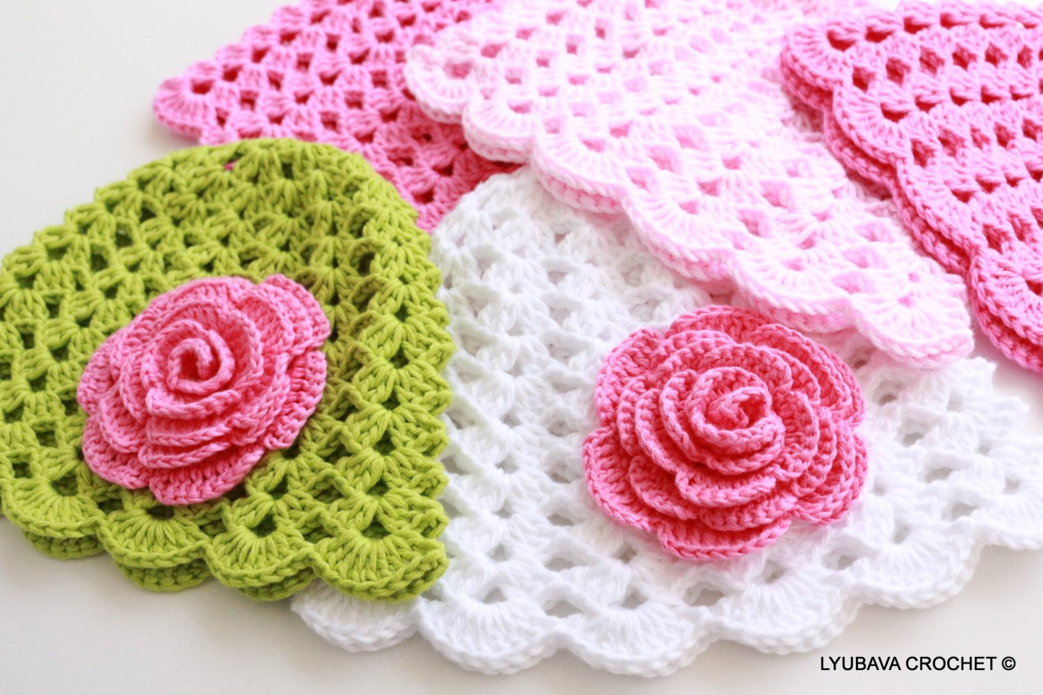 Lovely Crochet Baby Hat with Rose Flower Pattern Baby Girl Gift Diy Crochet Flower for Hat Of Beautiful 45 Photos Crochet Flower for Hat