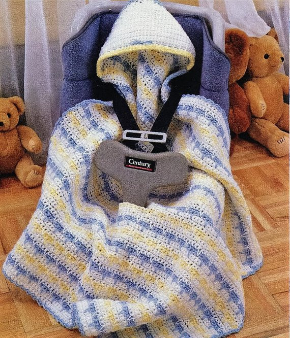 Lovely Crochet Baby Hooded Car Seat Fitted Blanket by Car Seat Blanket Size Of New 48 Photos Car Seat Blanket Size