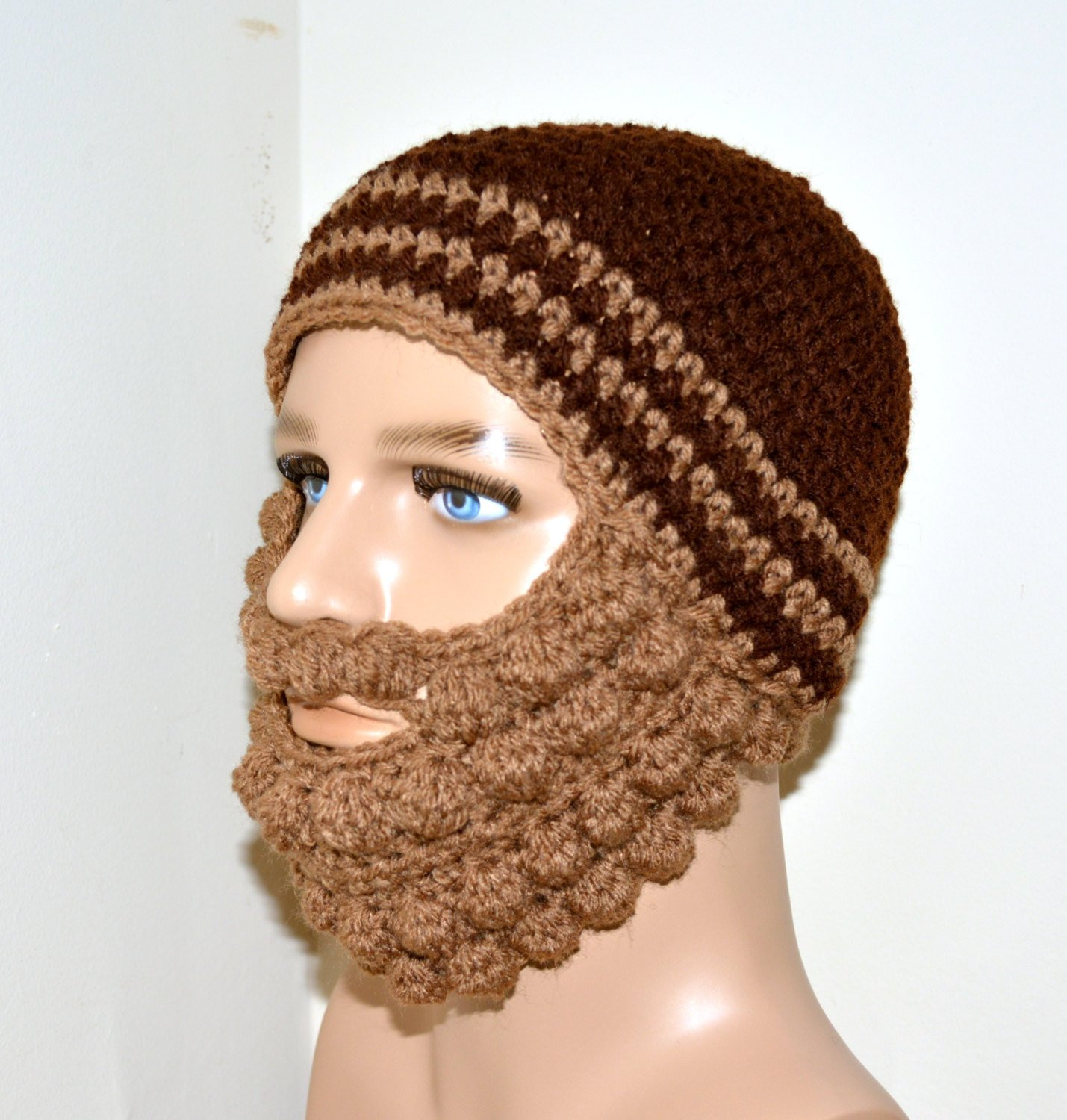 Lovely Crochet Beard Beanie Beard Beanie by topsycurvycrochet Crochet Beard Hat Of Charming 44 Models Crochet Beard Hat