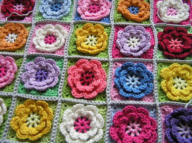 Lovely Crochet Beautiful Granny Square Flowers for Afghans and Free Crochet Granny Square Patterns Of Top 47 Pics Free Crochet Granny Square Patterns