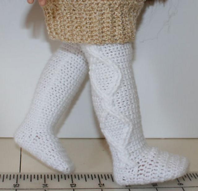 """Lovely Crochet Cable Tights for 18"""" Dolls Crochet Pattern by Crochet Tights Of Charming 48 Ideas Crochet Tights"""