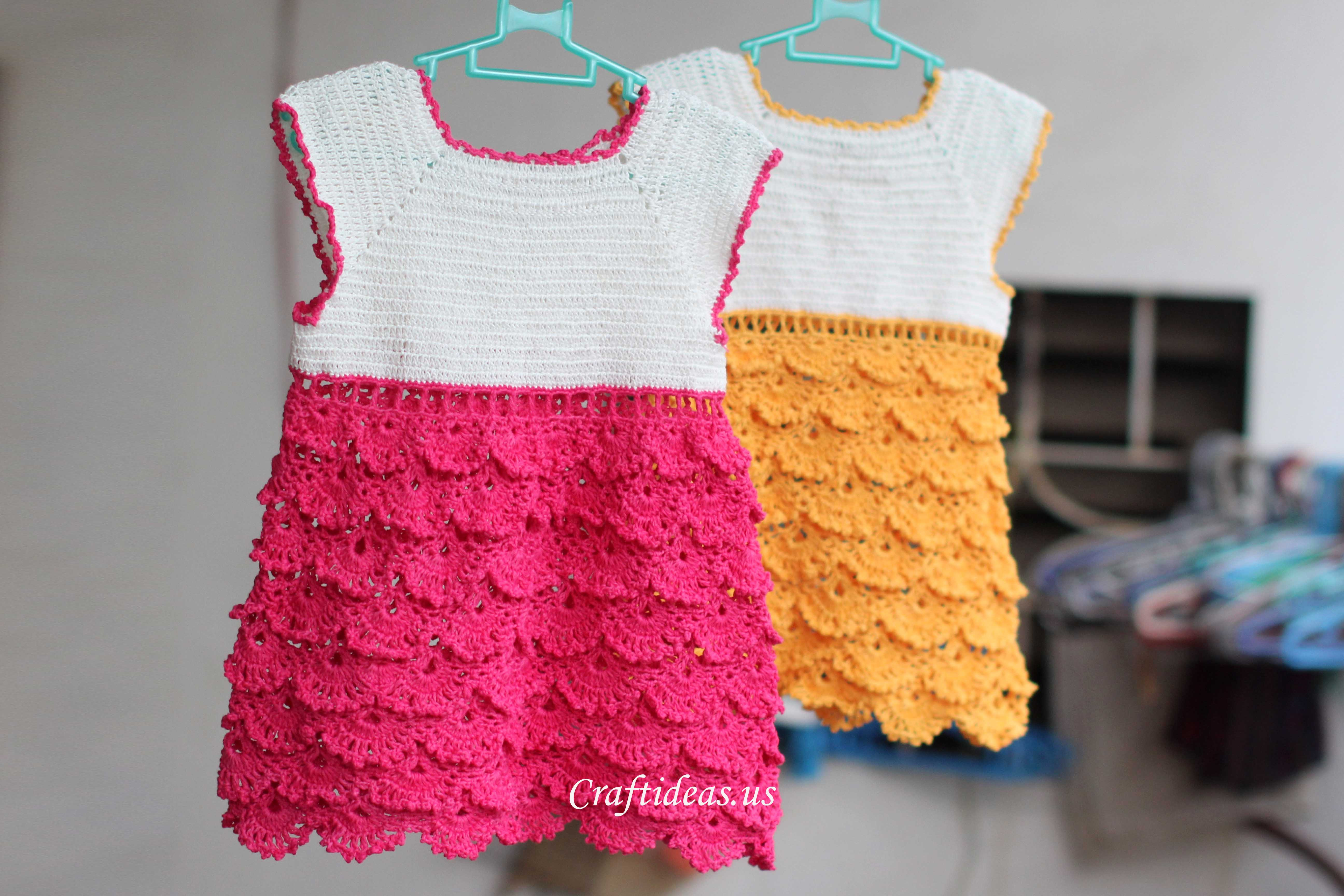 Lovely Crochet Charming Dress for Little Girls Craft Ideas Crochet Dress for Baby Of Amazing 42 Photos Crochet Dress for Baby