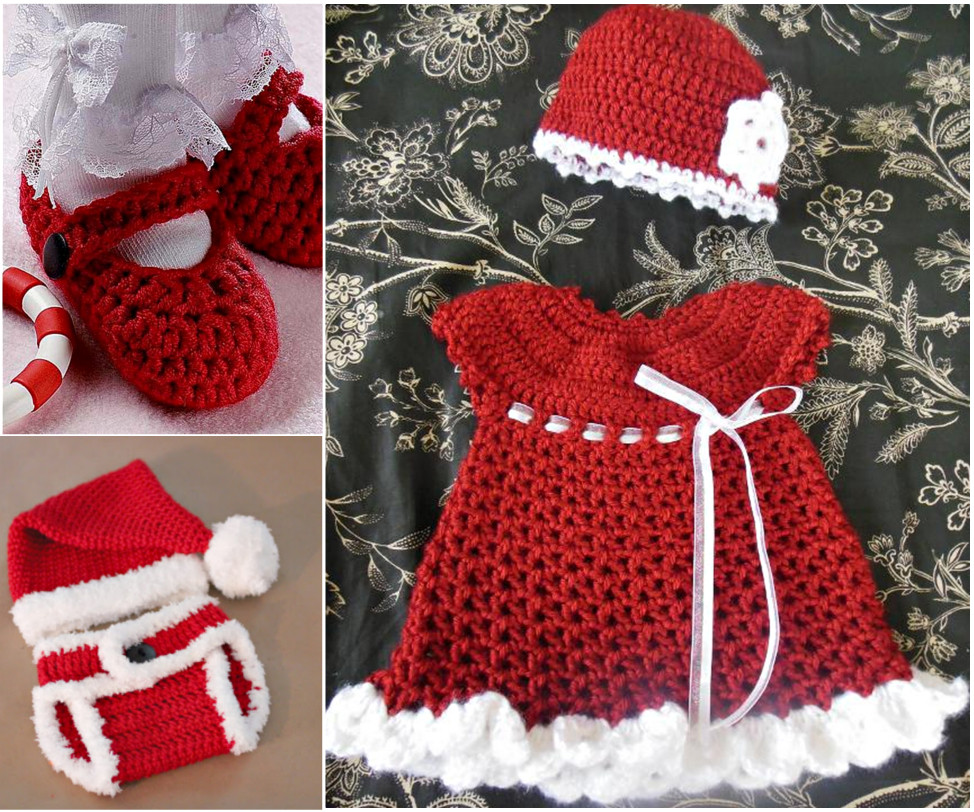 Lovely Crochet Christmas Sets for Baby Free Pattern Crochet Baby Sets Of Amazing 49 Models Crochet Baby Sets