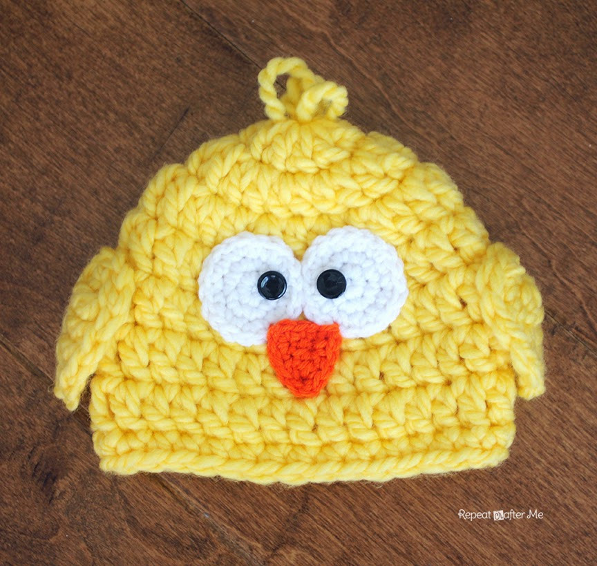 Lovely Crochet Chunky Baby Chick Hat Repeat Crafter Me Baby Chicken Hat Of Awesome Cute Baby Chickens with Hats Baby Chicken Hat
