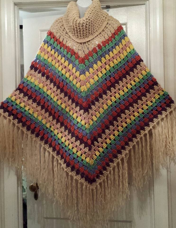 Lovely Crochet Cowl Neck Poncho Poncho with Fringe by Crochet Cowl Neck Poncho Of Beautiful 44 Pics Crochet Cowl Neck Poncho