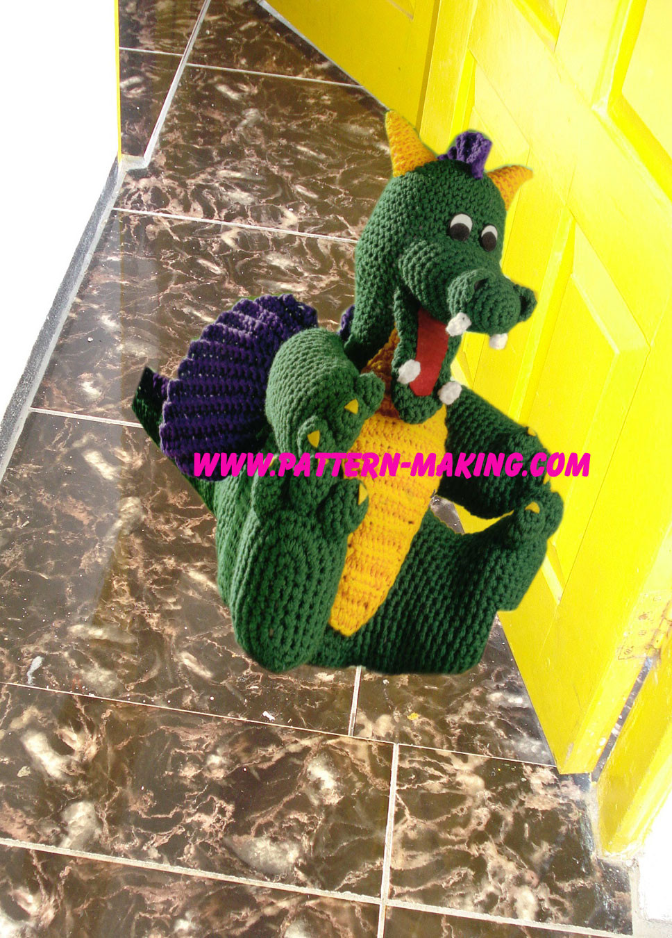 Crochet Dragon Doorstop