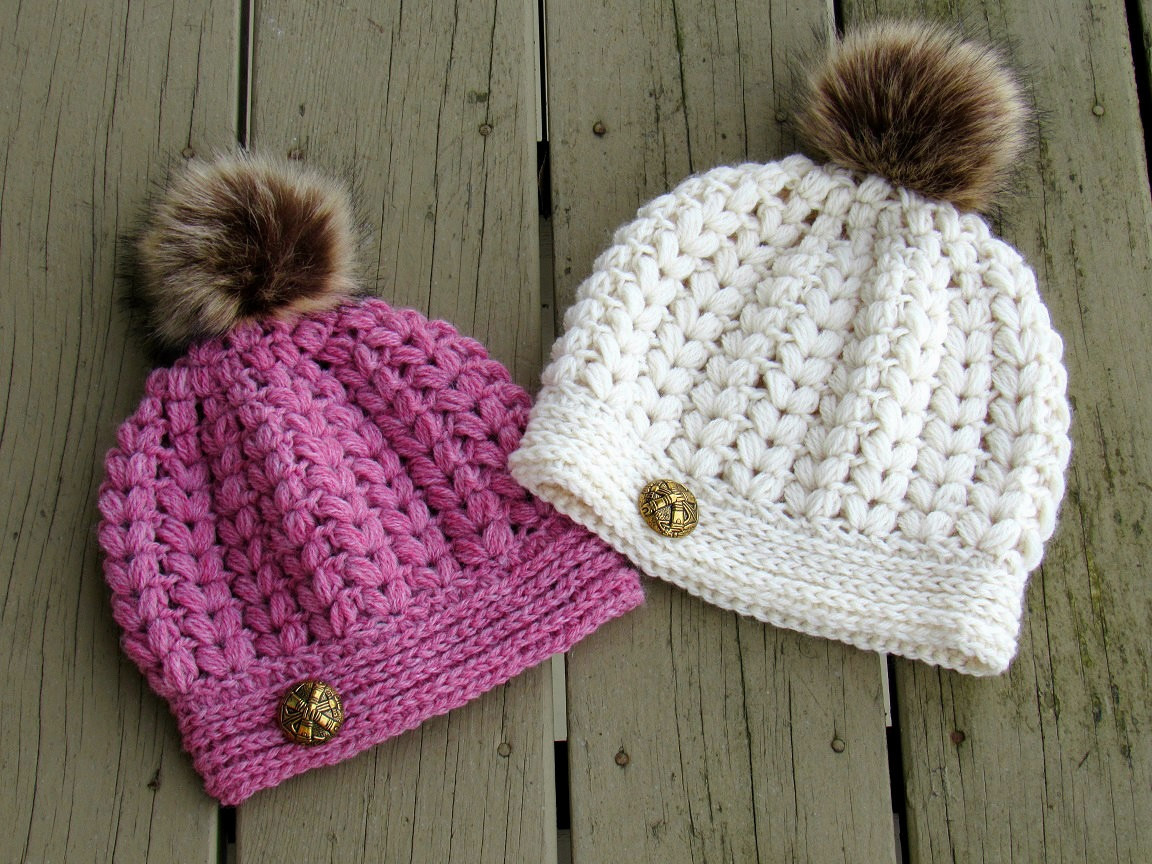 Lovely Crochet Dreamz Pearl Beanie Puff Stitch Crochet Hat Pattern Puff Crochet Of Great 49 Ideas Puff Crochet
