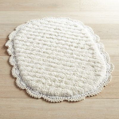 Lovely Crochet Edge Linen Bath Rug Crochet Bath Rugs Of Contemporary 44 Pictures Crochet Bath Rugs