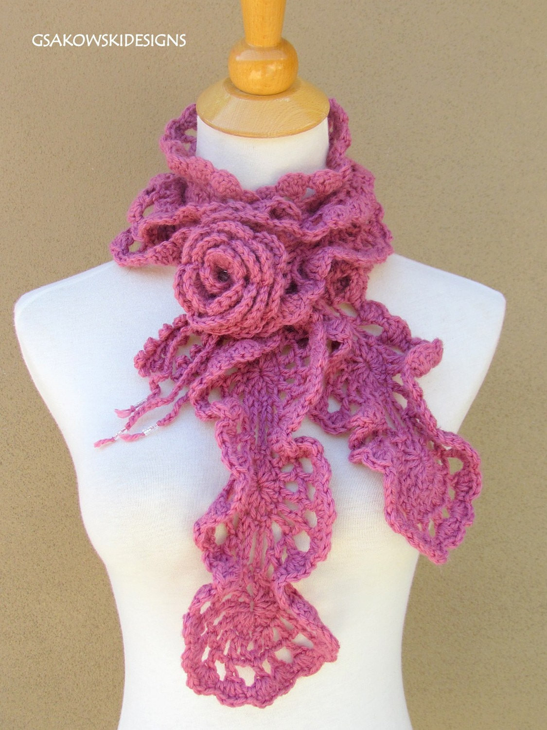 Lovely Crochet Free Pattern Romantic Scarf Crochet — Learn How Crochet Ruffle Scarf Of Lovely 41 Models Crochet Ruffle Scarf