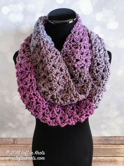 Lovely Crochet Frosted Berry Infinity Scarf A Free E Skein Caron Tea Cakes Crochet Patterns Of Beautiful Caron Tea Cakes™ Crochet Winter Scarf In Spiced Cider Caron Tea Cakes Crochet Patterns