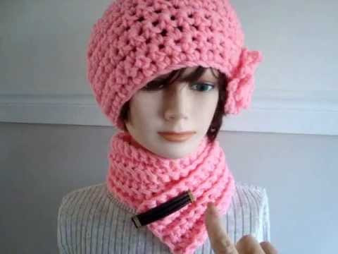 CROCHET HAT AND SCARF SET link to SweetPotatoPatterns