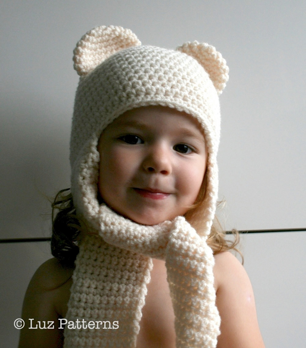Lovely Crochet Hat Pattern Instant Download Crochet Baby Bear Hat Crochet Hat and Scarf Of Superb 50 Pics Crochet Hat and Scarf