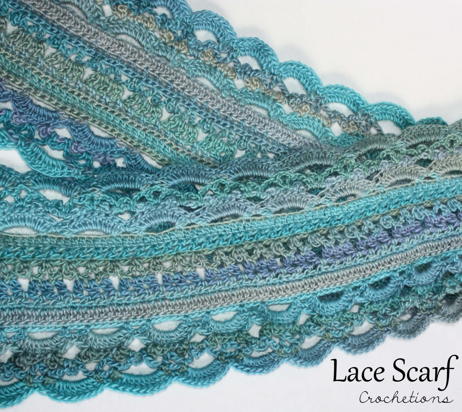 Crochet Lace Scarf Archives Crochetions