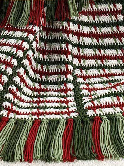 Lovely Crochet On the Double Mile A Minute Christmas Afghan Christmas Afghan Crochet Pattern Of Incredible 40 Ideas Christmas Afghan Crochet Pattern