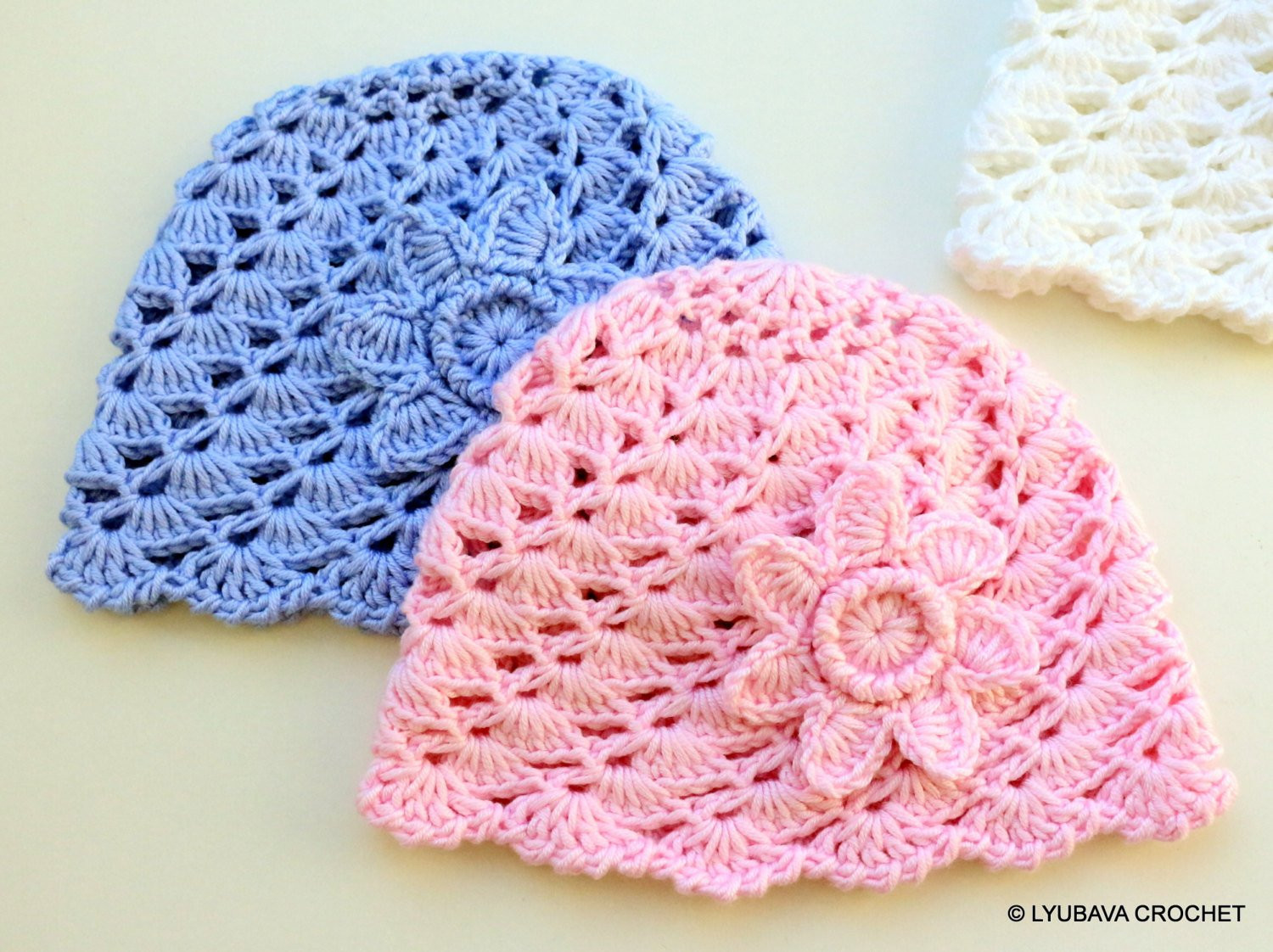 Lovely Crochet Pattern Baby Hat with Flower Baby Shower Diy Gift Crochet Flower for Baby Hat Of Beautiful 42 Ideas Crochet Flower for Baby Hat