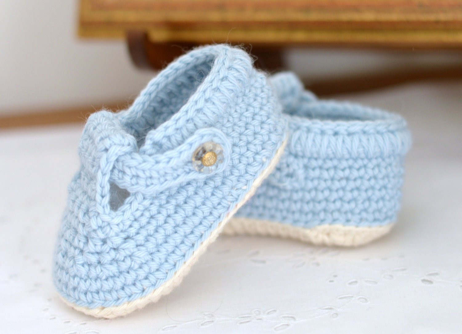 crochet pattern baby shoes t bar baby ref= listing