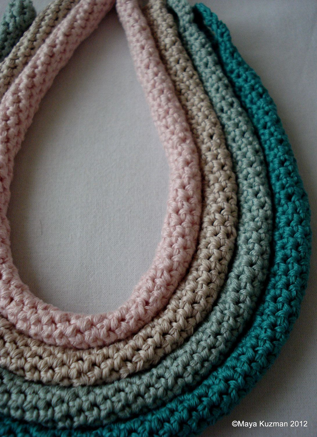 Lovely Crochet Pattern Crocheted Tube Necklaces Crocheted Crochet Jewellery Patterns Of Great 48 Models Crochet Jewellery Patterns