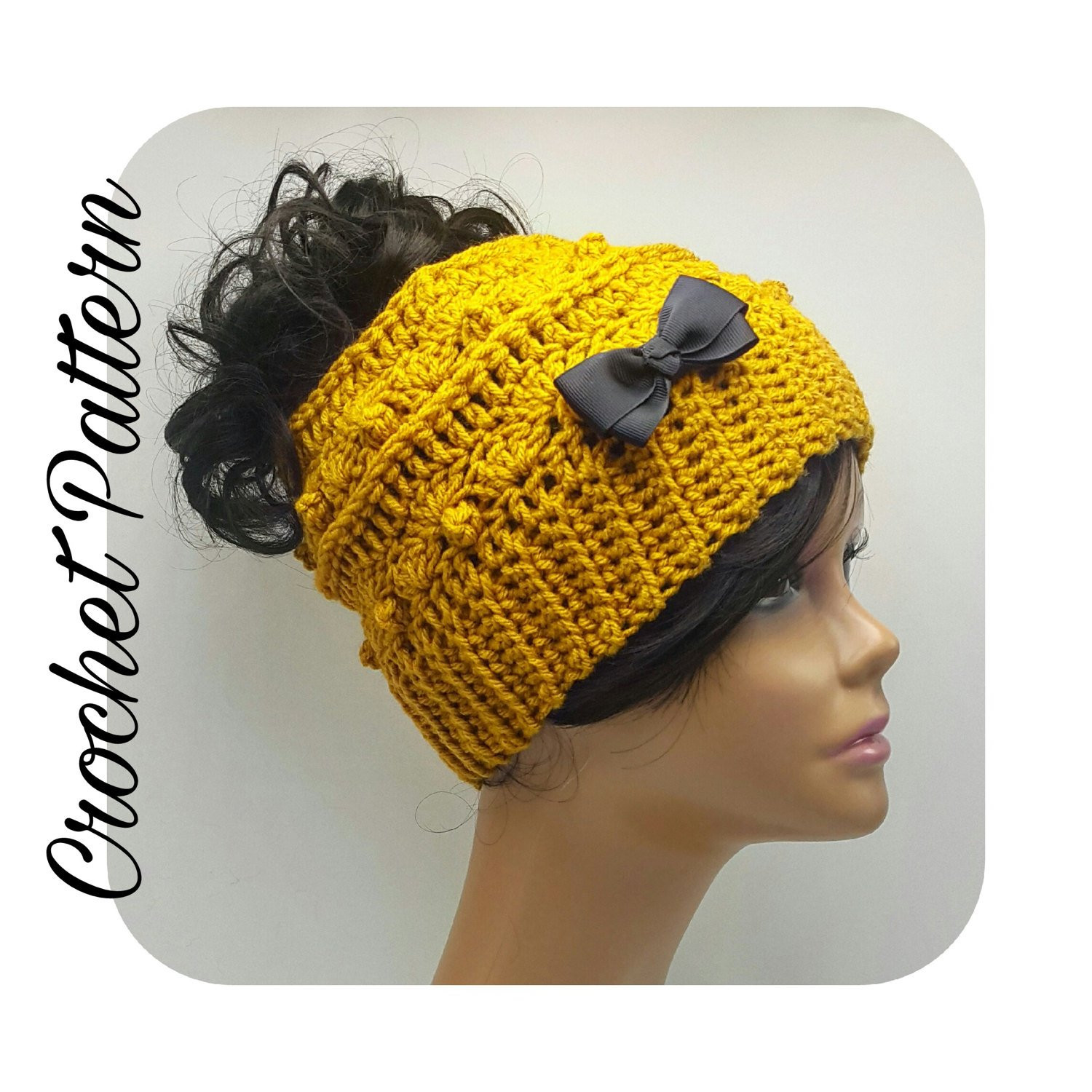 Lovely Crochet Pattern Messy Bun Beanie Ponytail Beanie Crochet Bun Beanie Crochet Pattern Of Charming 42 Pics Bun Beanie Crochet Pattern