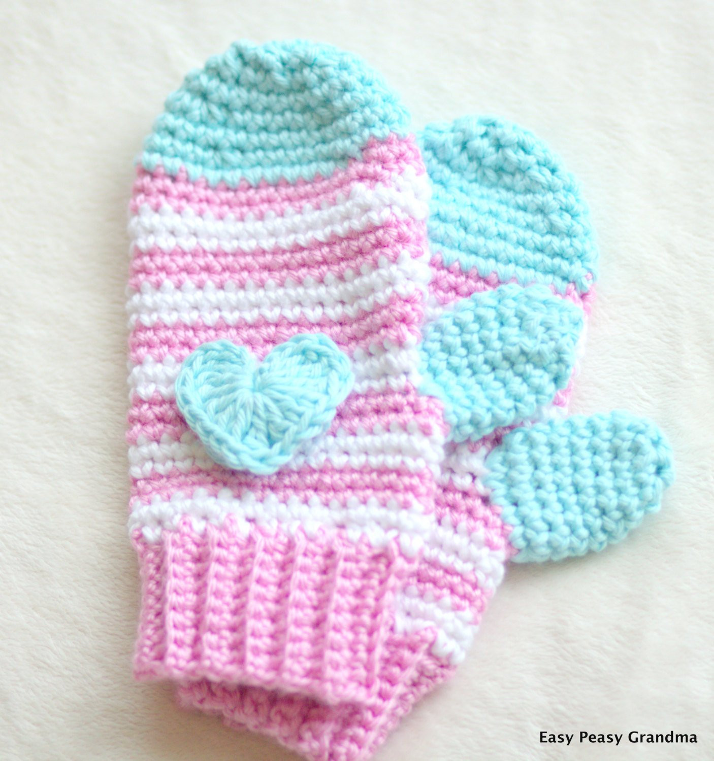 CROCHET PATTERN mittens gloves pattern four sizessmall