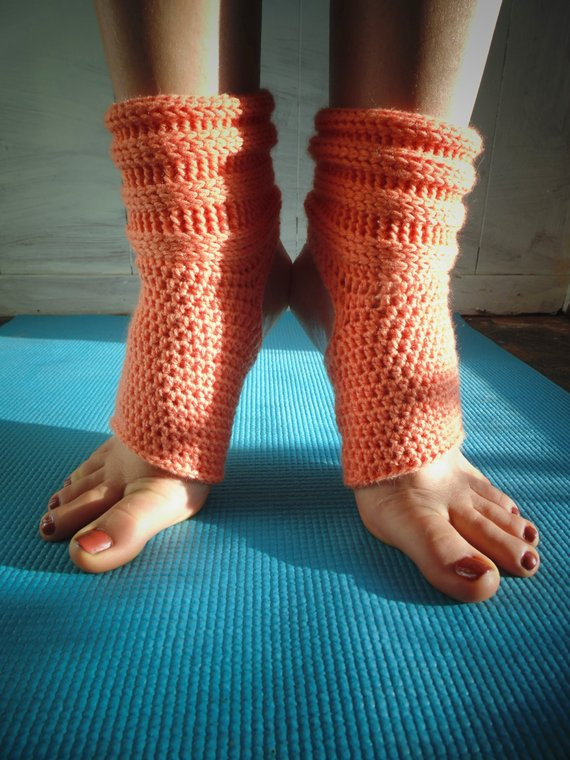 Crochet PATTERN Rolled Yoga Socks Pilates Socks Dance
