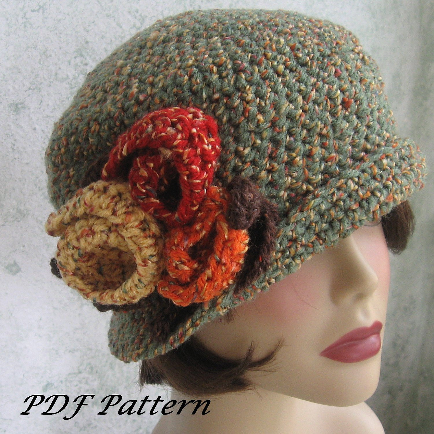 Lovely Crochet Pattern Womens Flapper Hat Downton Abbey Style with Womens Crochet Beanie Of Perfect 44 Photos Womens Crochet Beanie