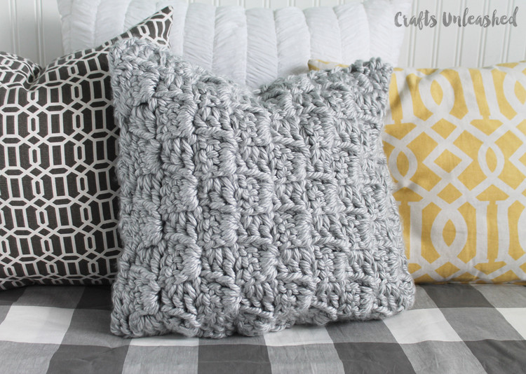 Lovely Crochet Pillow Pattern Chunky Stairstep Stitch Tutorial Crochet Throw Pillow Of Contemporary 41 Pics Crochet Throw Pillow