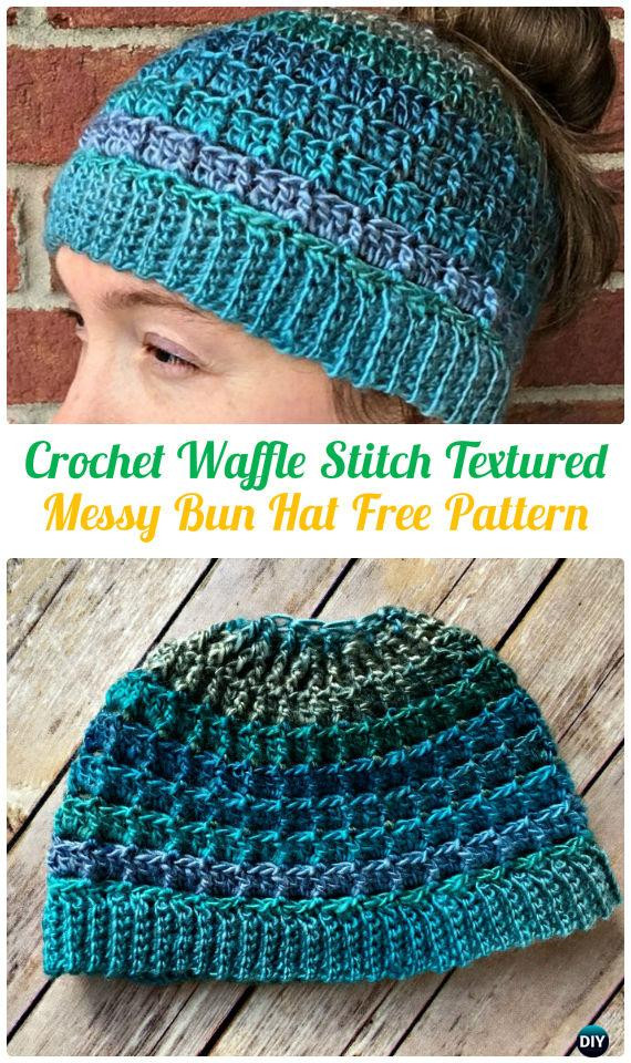 Lovely Crochet Ponytail Messy Bun Hat Free Patterns [instructions] Free Crochet Pattern for Messy Bun Hat Of Beautiful 47 Ideas Free Crochet Pattern for Messy Bun Hat