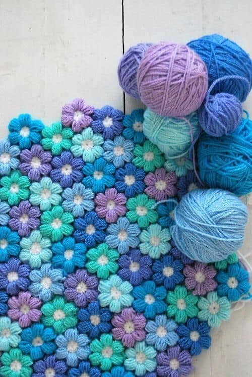 Lovely Crochet Puff Stitch Flower Blanket Free Pattern Best Crochet Stitch for Blanket Of Perfect 45 Ideas Best Crochet Stitch for Blanket