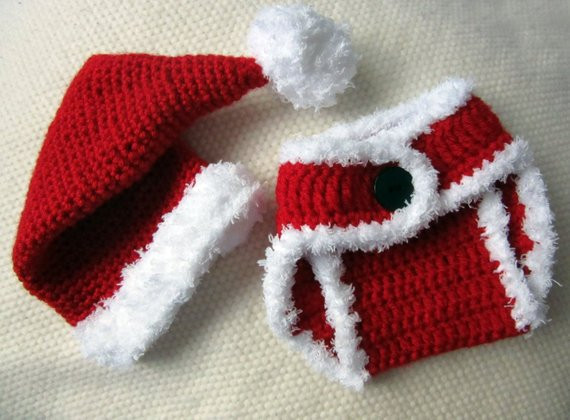 Lovely Crochet Santa Hat and Diaper Cover Baby Santa Outfit Baby Crochet Baby Santa Hat Of Amazing 44 Images Crochet Baby Santa Hat