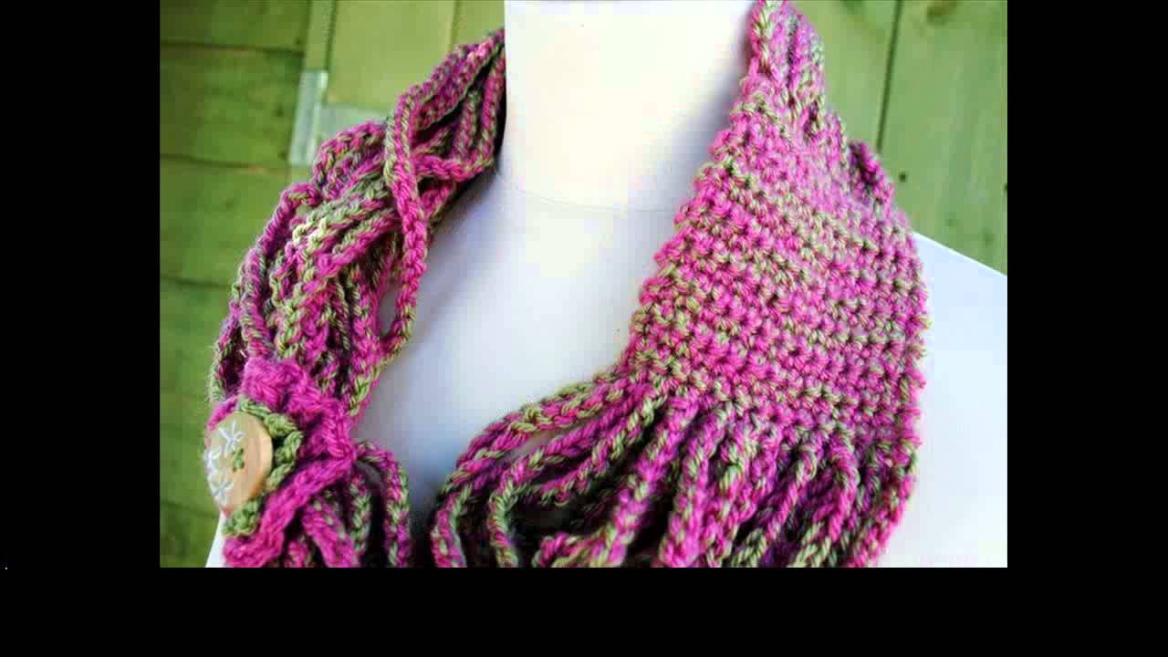 crochet scarf tutorial for beginners