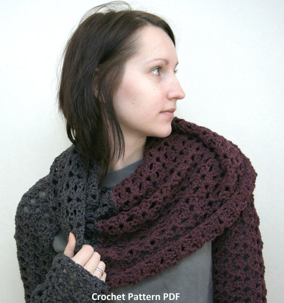 crochet scarf with sleeves pattern Crochet and Knit