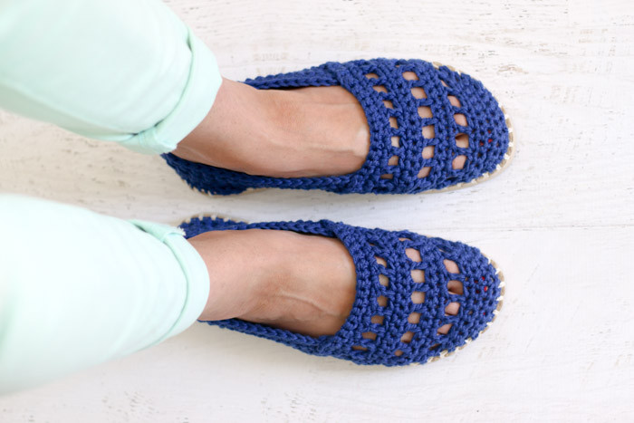 """Crochet Shoes with Rubber Bottoms Free """"Toms"""" Style"""