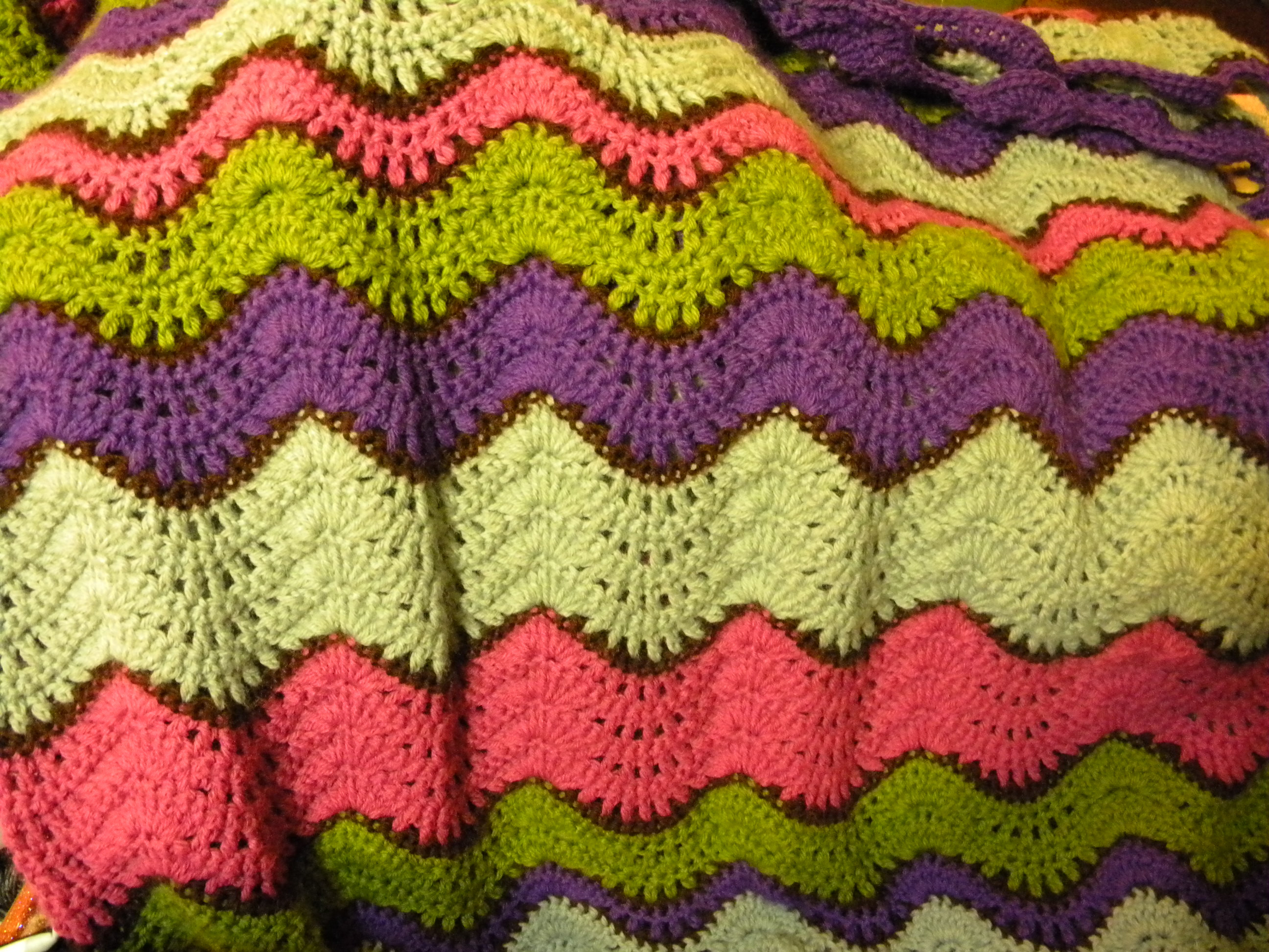 Lovely Crochet Stitches Ripple Afghan Wmperm for Afghan Stitch _afghan Stitch